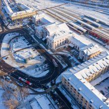 Skelbiamas konkursas: kaip pasikeis erdvė prie Vilniaus geležinkelio stoties?