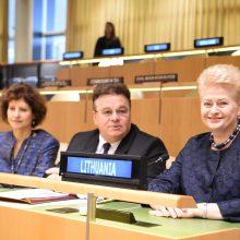 D. Grybauskaitė: globalizacija turi tamsiąją pusę, bet jos atmesti negalima