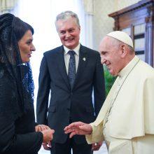 G. Nausėda susitiko su popiežiumi: perdavė Lietuvos žmonių linkėjimus