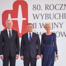 G. Nausėda Varšuvoje mini Antrojo pasaulinio karo pradžios metines