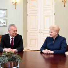 D. Grybauskaitė po susitikimo su G. Nausėda: radome daug sutarimo