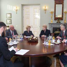 Lietuvoje vieši Latvijos parlamento vadovė