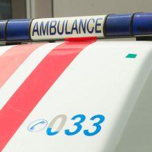 Vilniuje susidūrus automobiliui ir motociklui, nukentėjo 10 mėnesių kūdikis