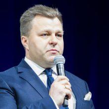 M. Adomėnas konferencijoje pristatė Lietuvos humanitarinės paramos Sirijai įsipareigojimus