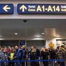 Oro uosto keleiviai paliko 5 tūkst. eurų vertės maisto ir higienos reikmenų