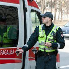Vilniuje peiliu sužalotas vyras atsidūrė ligoninėje