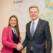 Vilniaus meras pristatė naują komandos narę – atstovę spaudai