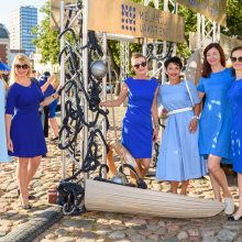 768-ąjį gimtadienį Klaipėda šventė mėlynai