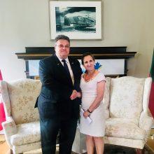 L. Linkevičius susitiko su Kanados užsienio reikalų ministre