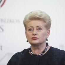 """Prezidentė smerkia Seimo """"kėsinimąsi"""" į pirmąjį Konstitucijos skirsnį"""
