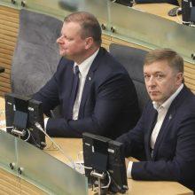 S. Skvernelis ragina neskubėti pasirašyti koalicijos sutarties