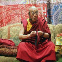 Vilniuje viešėsiantis Dalai Lama skaitys paskaitą apie laimės meną