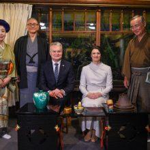 G. Nausėda susitiko su Japonijos garbės konsulais ir ambasadoriais