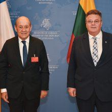 Susitiko Lietuvos ir Prancūzijos diplomatijos vadovai