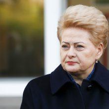 D. Grybauskaitė: žmonės pasiūlė dabartinei valdžiai pasivaikščioti labai toli