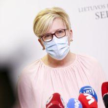 Premjerė atsakė, ar planuojama Lietuvoje keisti karantino sąlygas