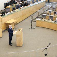 Seime palaikymą V. Mizarui išsakė valdančioji koalicija ir socialdemokratai