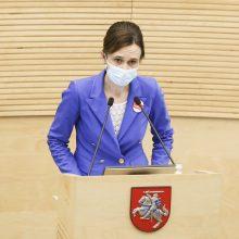 """Seimo pirmininkė: """"valstiečių"""" siūlomas jungtinės veiklos projektas – svarstomas"""