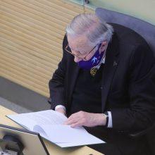 V. Landsbergis: Lietuvoje trūksta siekio susitarti, per daug pykčio ir psichozės