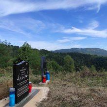 Bosnijoje atidengtas atminimo akmuo žuvusiam Lietuvos kariui N. Valteriui