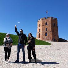Pirmieji turistai Gedimino pilies bokšte – iš Latvijos