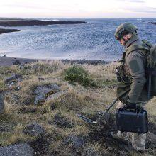 Lietuvos kariai dalyvauja išminavimo mokymuose Islandijoje