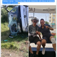 A. Pogrebnojus pakeliui į Liepoją pateko į avariją: apvirto autobusas