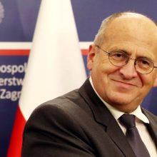 Lenkijos ministras smerkia Kinijos spaudimą Lietuvai, tikisi, jog santykiai stabilizuosis