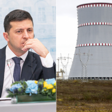 V. Zelenskis sako išgirdęs Lietuvos signalą dėl Astravo