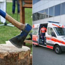 Vilniuje į ligoninę paguldytas sumuštas ir kirviu sužalotas vyras