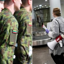 Oro uostuose ir pasienyje budės kariai, Šiauliuose siūlo atšaukti renginius