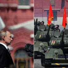 V. Putinas, nepaisydamas COVID-19 grėsmės, dirigavo kariniam paradui