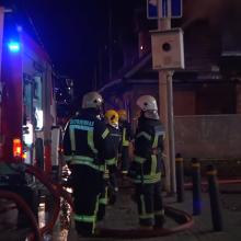 Vilniuje, Sėlių gatvėje, degė negyvenamas namas