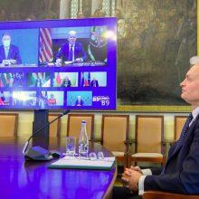G. Nausėda apie JAV prezidento vizitą Lietuvoje: tai nėra kažkokia fantazija