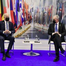 G. Nausėda paprašė J. Bideno didesnių JAV pajėgų regione