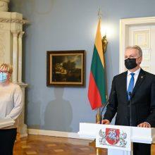 """I. Šimonytė dėl ambasadoriaus ES: prisiminė G. Nausėdos pasisakymą apie """"arklius brastoje"""""""