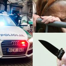 Kaune sulaikoma senjorė priešinosi policininkams: pareigūną puolė su peiliu