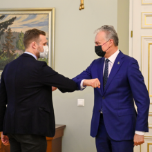 G. Nausėda susitinka su G. Landsbergiu: pristatys užsienio vizitų rezultatus