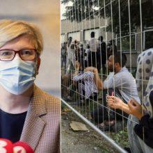I. Šimonytė: nei Lietuva, nei migrantai nėra suinteresuoti įklimpti procedūrose