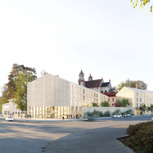 Vėl pristatoma vizija, kaip atrodys Šv. Jokūbo ligoninės teritorija