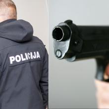 Iš girtų kauniečių norėjo paimti vaiką – vyras į pareigūnus nutaikė ginklą