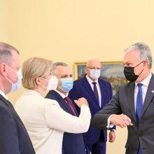 G. Nausėda susitiko su opozicijos vadovais: aptarė biudžetą, merų rinkimus