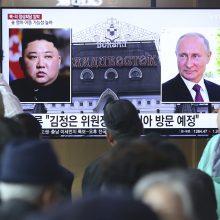 """Šiaurės Korėjos lyderis žada """"greitai"""" aplankyti Rusiją"""