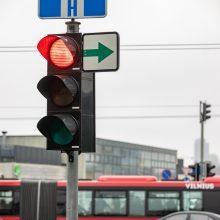 Į Vilniaus gatves žaliosios rodyklės turėtų grįžti sausio viduryje
