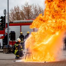 Ugniagesiai surengs interaktyvias stalo naftos išsiliejimo suvaldymo pratybas