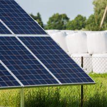 Visagine atsiras du saulės elektrinių parkai