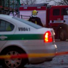 Tragiška avarija Trakų rajone: degančiame automobilyje žuvo žmogus