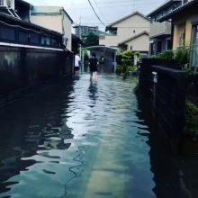 Dėl potvynių ir nuošliaužų grėsmės Japonijoje evakuoti tūkstančiai žmonių