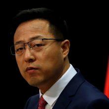 Kinija grasina Amerikai atsakomosiomis priemonėmis, jei bus nubausta dėl Honkongo