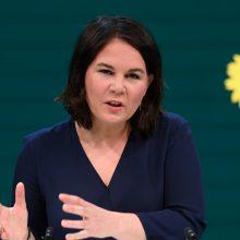 """Vokietijos """"žalieji"""" paskyrė A. Baerbock savo kandidate pakeisti A. Merkel"""